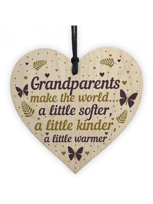 Wooden Heart Grandparent Gifts For Grandma Grandpa Nan Grandad