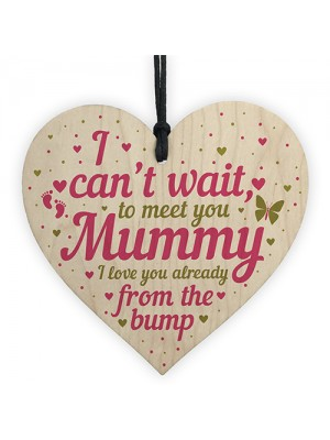 Wooden Heart Gift From Baby To Mummy To Be From Bump Present