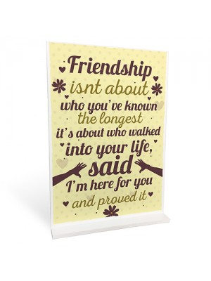 Friendship Plaques Gifts For Women Best Friend Christmas Sign