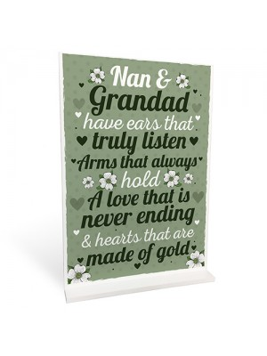 Grandparent Standing Plaque Birthday Christmas Gift For Nan