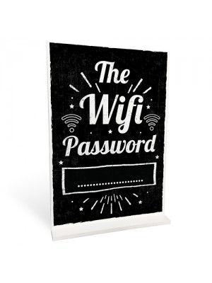 WIFI PASSWORD Chalkboard Standing Plaque First Home Gift Sign