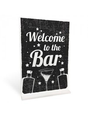 Welcome Bar Signs And Plaque Alcohol GIN VODKA Cocktail Home Bar