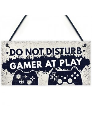 Gamer Gaming Gifts Do Not Disturb Man Cave Bedroom Sign Gift