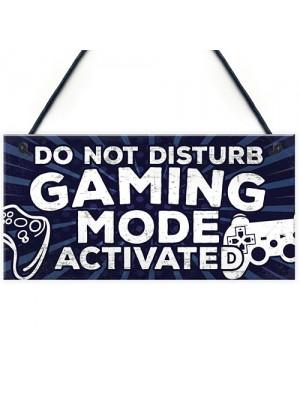 Gaming Do Not Disturb Bedroom Door Sign Birthday Christmas Gift