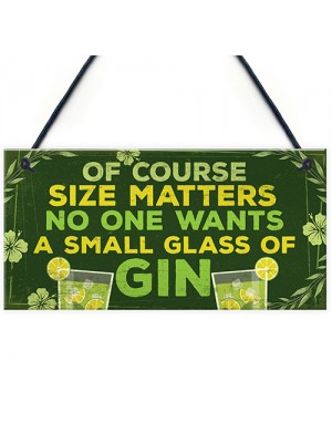 Funny Novelty GIN Sign Gin & Tonic Gifts Alcohol Man Cave Bar