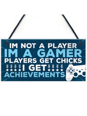 Novelty Gamer Gaming Bedroom Accessories Door Sign