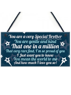 Birthday Christmas Brother Gifts From Sister Hanging Plaque