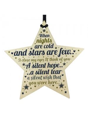 CHRISTMAS Tree Ornament In Memory Mum Dad Nan Memorial Star