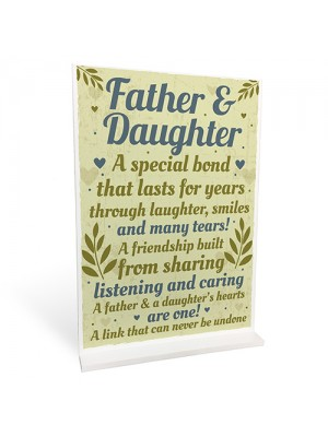 Father Daughter Keepsake Gift For Dad Birthday Ornament Sign