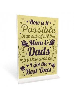 Mum And Dad Sign Ornament Keepsake Birthday Christmas Gift