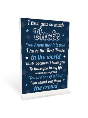 Quirky Gifts For Uncle Plaque Uncle Presents For Birthday Xmas