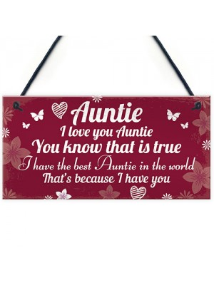 Auntie Hanging Plaques Auntie Decoration Birthday Christmas Gift