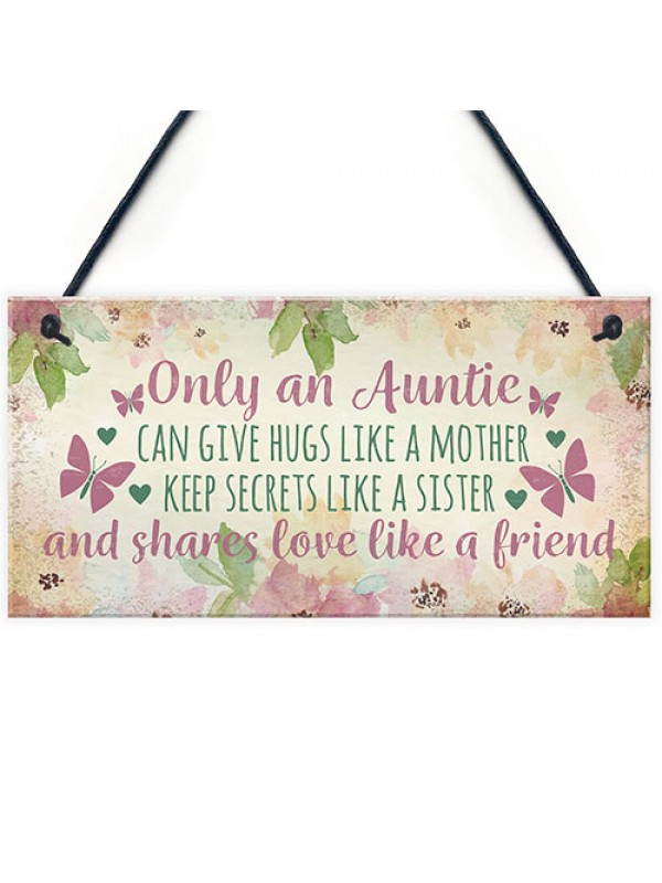 Auntie Ornament Keepsake Gift Auntie Quote Plaque Birthday Gift