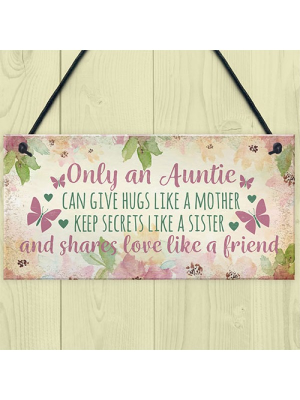 Auntie Ornament Keepsake Gift Quote Plaque Birthday