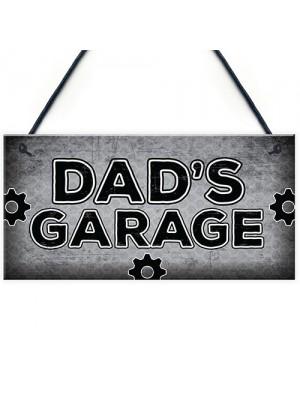 Dads Garage Man Cave Workshop Sign Dad Gifts For Christmas