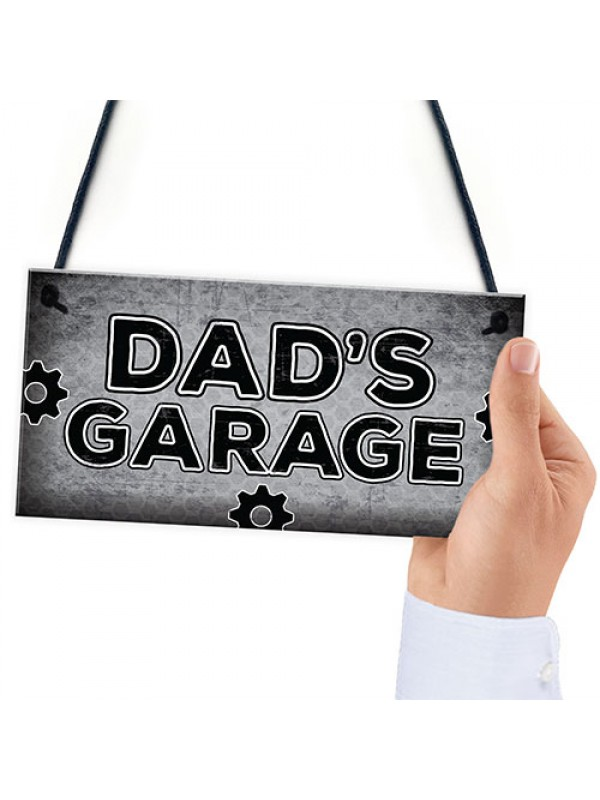 Dads Garage Man Cave Workshop Sign Dad Gifts For Christmas