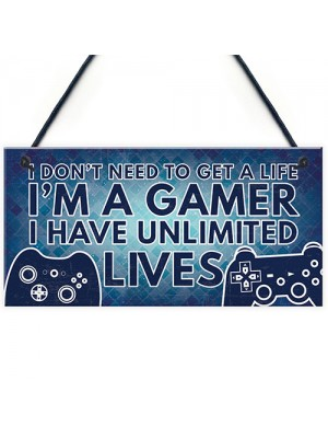 Gamer Gaming Bedroom Gifts Funny Novelty Christmas Birthday Gift