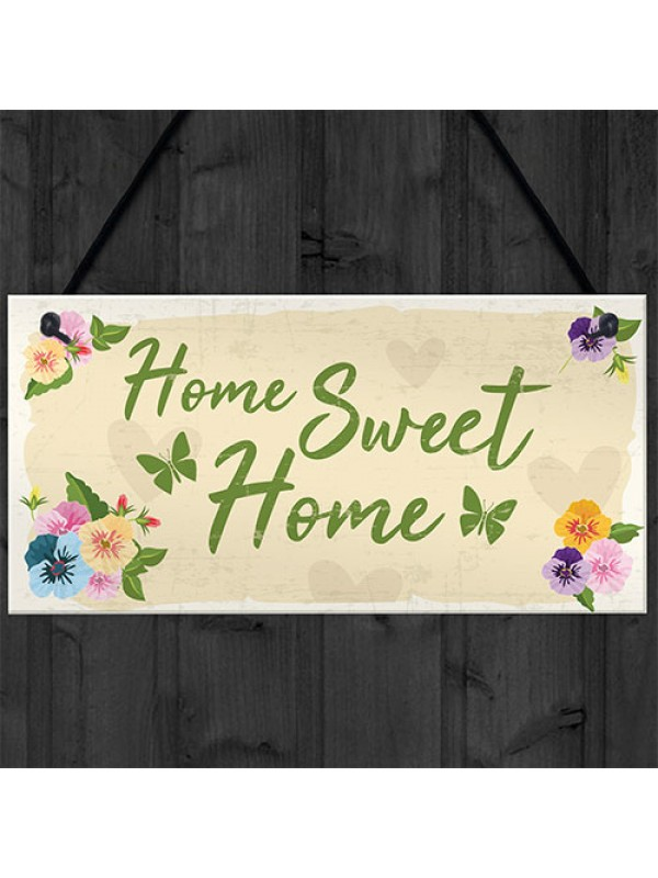 Home Sweet Home Sign Shabby Chic Housewarming New Home Gift
