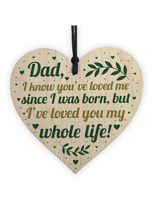 Gifts For Dad From Son Daughter Wooden Heart Birthday Christmas