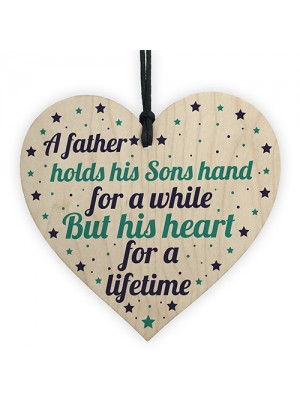THANK YOU Gift For You Father Dad Daddy Son Wooden Heart Gift