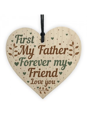 Father Present Sentimental Wood Heart Dad Father Gifts From Son