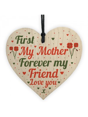 Mum Heart Plaque Wood Sign Friendship Mother Gifts From Daughter
