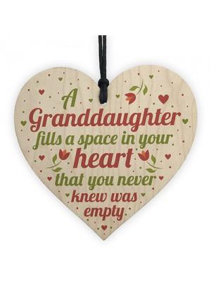 Granddaughter Plaque Keepsake Birthday Christmas Gift From Nan