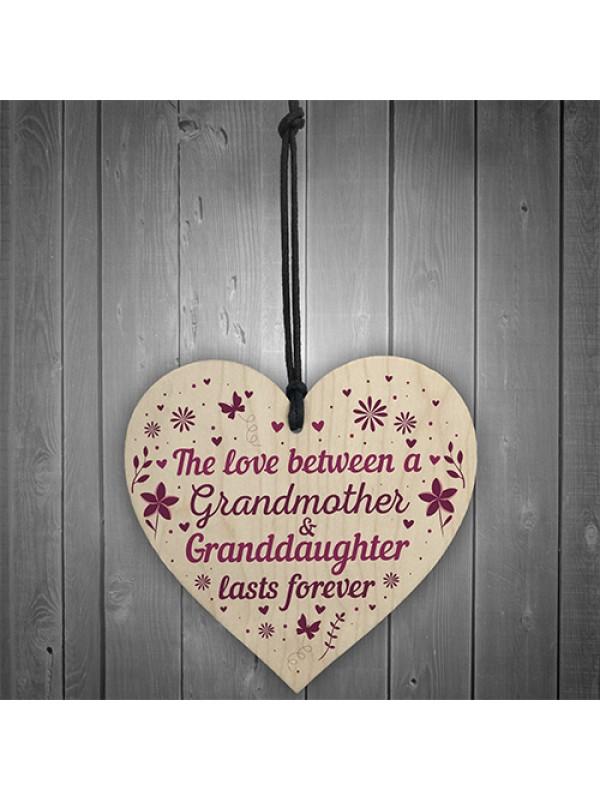 Grandmother And Granddaughter Gifts Nan Grandma Birthday Heart