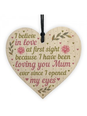 Mum Gifts For Mummy Wood Heart Plaque Daughter Son Keepsake