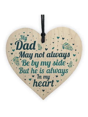 Dad Father Memorial Plaques In Memory Wood Heart Sign Memorial