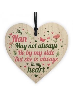 Nan Memorial Plaques Christmas Memorial Decoration Wooden Heart