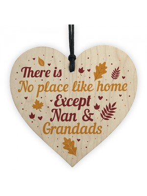 Nan and Grandad Christmas Birthday Gifts Hanging Heart Sign Xmas