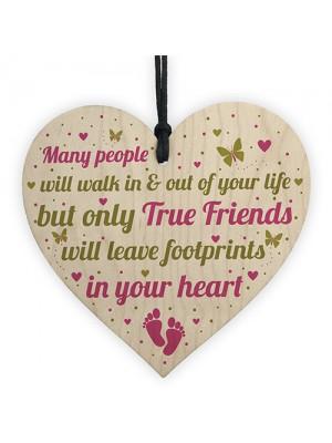 BEST FRIEND Keepsake Gift Wooden Heart Plaque Birthday Gift