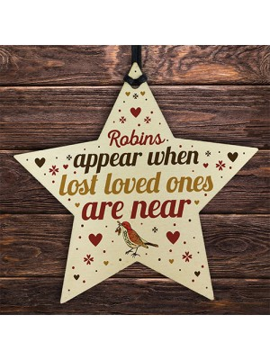 Robins Appear When Lost Loved Ones Are Near Wood Star Memorial