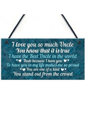 Best Uncle Plaque Gift For Birthday Christmas Gift For Brother