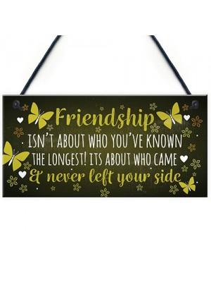 FRIENDSHIP Keepsake Plaque Hanging Sign Gift For Best Friend