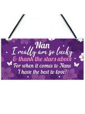 Keepsake Gifts For Nan Nanny Birthday Christmas Plaque Gifts