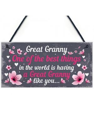 Great Granny Plaque Sign Grandparent Gifts From Grandchildren