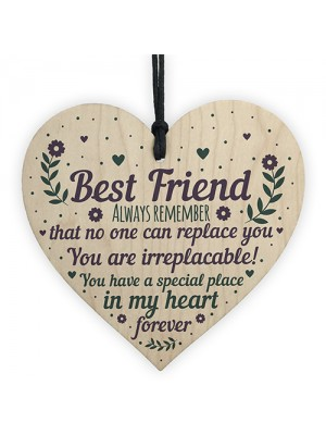 Friendship Gift Sign Cute Heart Plaque Poem Birthday Christmas