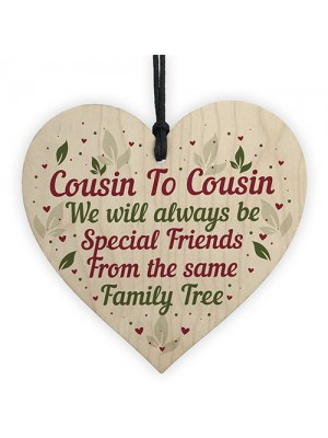 Cousin Family Gifts Christmas Birthday Gift For Cousin Wood Hear