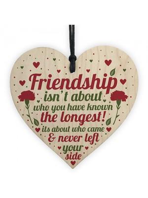 FRIENDSHIP Birthday Christmas Gift Wooden Heart Best Friend Gift