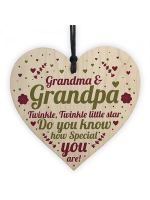 Gifts For Grandpa Wood Heart Gifts For Grandma Grandparent Gift