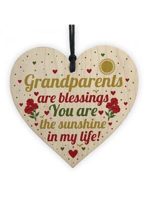 Gifts For Grandparents Wood Heart Grandma Grandpa Nan Grandad
