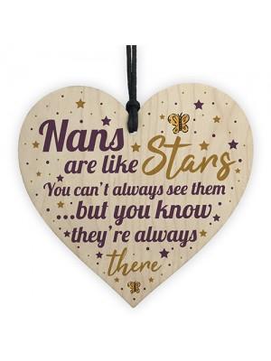 Nan Gift For Christmas Birthday Heart Plaque Keepsake THANK YOU