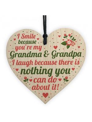 Gifts For Grandma Grandpa Birthday Christmas Heart THANK YOU
