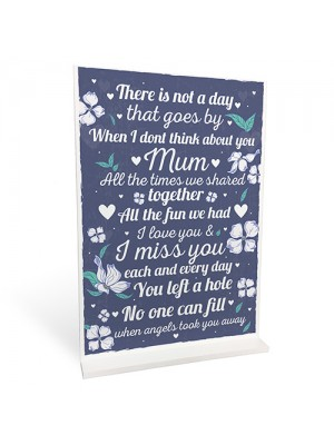 Standing Memorial Plaque For Mum Mummy Remembrance Sign