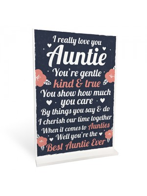 Auntie Gift For Christmas Birthday Standing Plaque Sister Gift