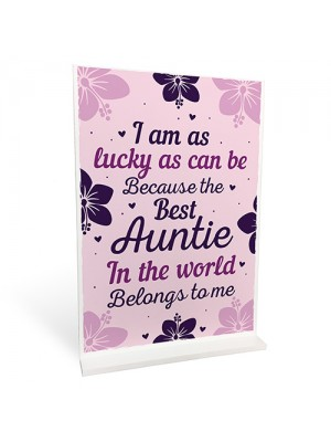 Best Auntie Aunt Gifts For Christmas Birthday Standing Plaque