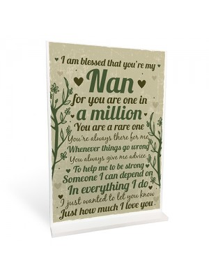 Thank You Gift For Nanny Standing Plaque Birthday Christmas Gift