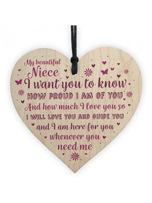 Niece Gifts From Auntie Uncle Christmas Birthday Wooden Plaque